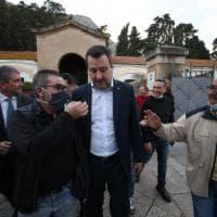 """Cimitero, Salvini ai Rotoli: """"Porterò il problema sul tavolo del governo"""""""