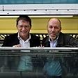 Balzani in treno con pendolari fa tappa a Parma /   Le foto