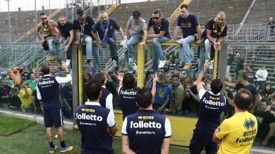 """Anche l'Atalanta batte Parma 1-0  -   Foto    Qui si rischia seriamente la serie B    Ghirardi: """"Non siamo squadra cuscinetto""""       Parma-Sassuolo gratis per gli alluvionati"""