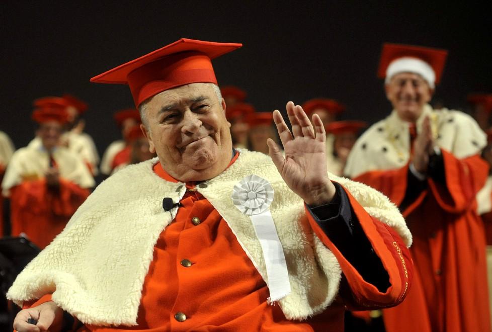Fotocronaca della laurea a Bernardo Bertolucci