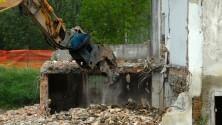 Demolizione delle case