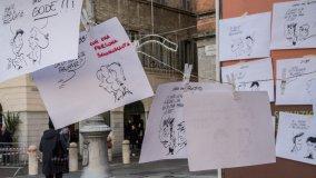 Anche le vignette in piazza contro l'Aids