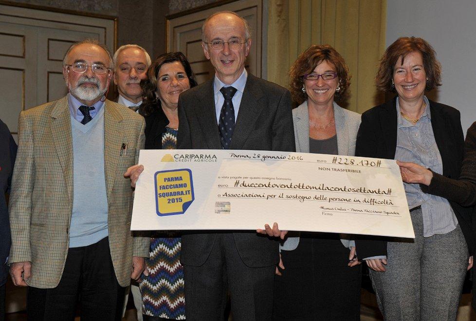 Parma Facciamo Squadra, il volontariato fa festa: raccolti oltre 200mila euro