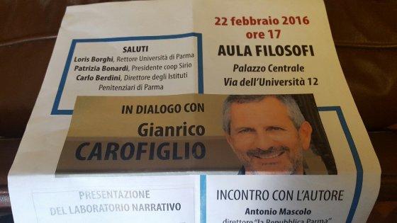 Appuntamento pubblico con Gianrico Carofiglio a Parma