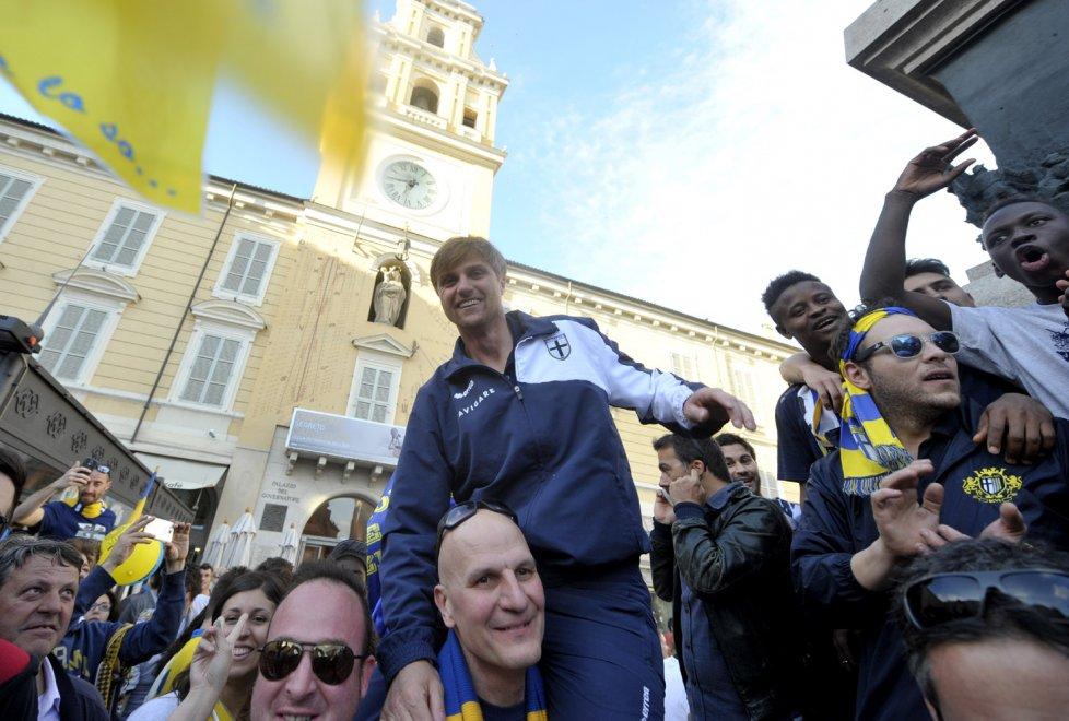 Promozione Parma 1913, la festa in centro