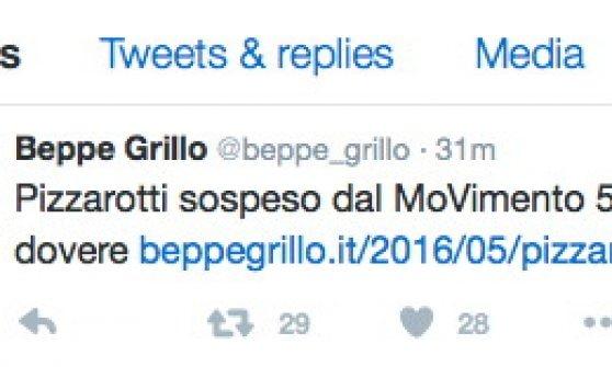 """Parma, Pizzarotti sospeso attacca: """"Direttorio M5s irresponsabile"""". Grillo: hai nascosto indagine"""