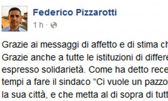 """Inchiesta Regio, Pizzarotti pubblica l'avviso di garanzia. """"Risponderò ai vertici del MoVimento"""""""