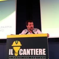 Summit della Lega a Parma, Salvini: