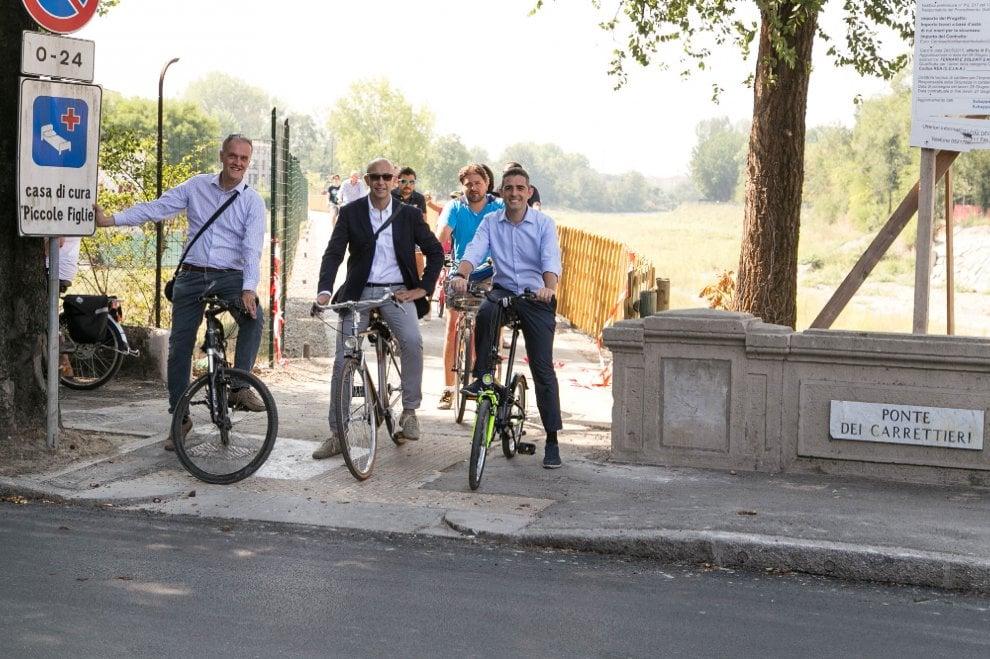 Pista ciclabile tra via Po e via Navetta a Parma: l'inaugurazione