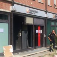 Parma, le foto del bancomat sfondato