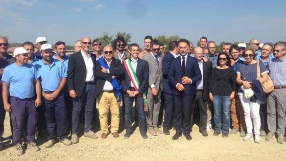 Parma, inaugurata la nuova cassa d'espansione del canale Burla