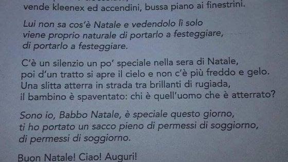 """A Parma Babbo Natale porta """"sacco con permessi soggiorno"""", Lega: fatto grave"""