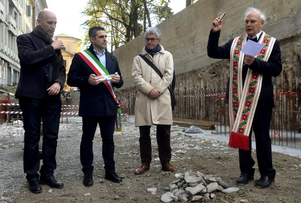 Ponte Romano e Ghiaia piccola: la cerimonia della prima pietra - Foto