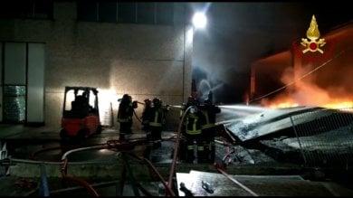 Sala Baganza, in fiamme  la disossatura Agnetti