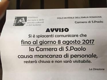 Parma, manca il personale: capolavoro del Correggio chiuso ai turisti