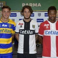 Calcio, contro il Brescia l'esordio di Cetilar sulle maglie del Parma