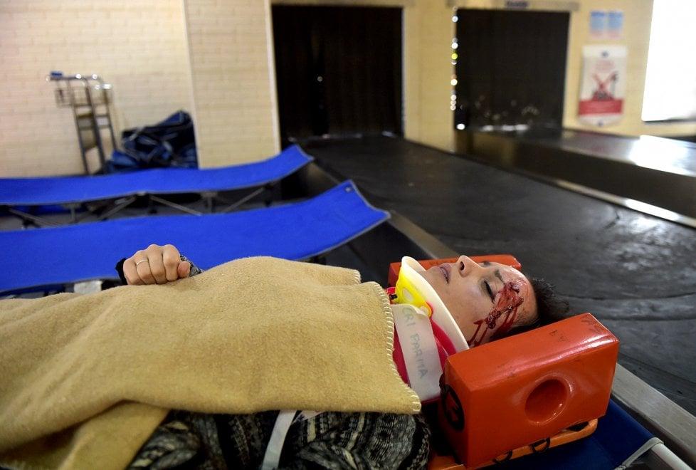 Parma: feriti nell'atterraggio di emergenza. Ma è un'esercitazione
