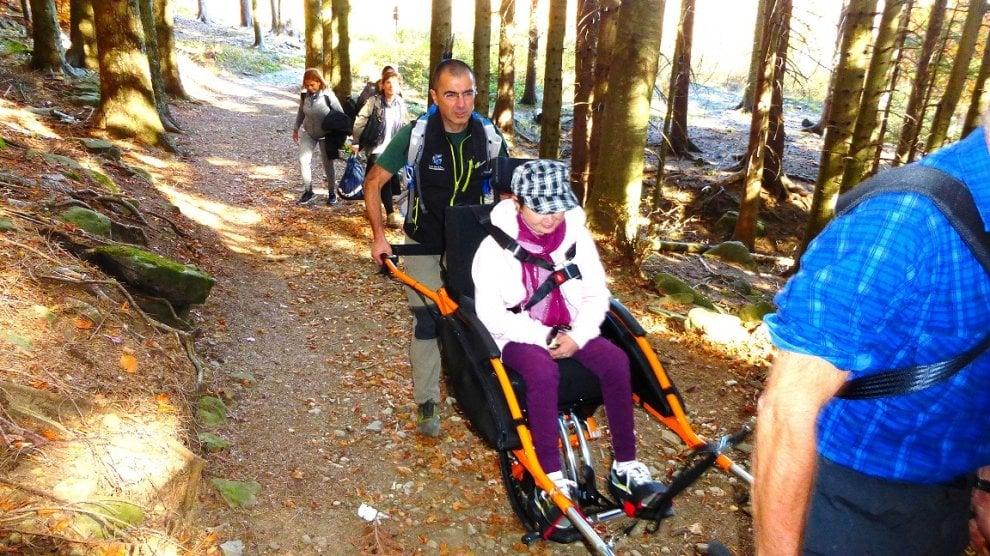Parma, in montagna con Joelette: la nuova sfida della disabilità