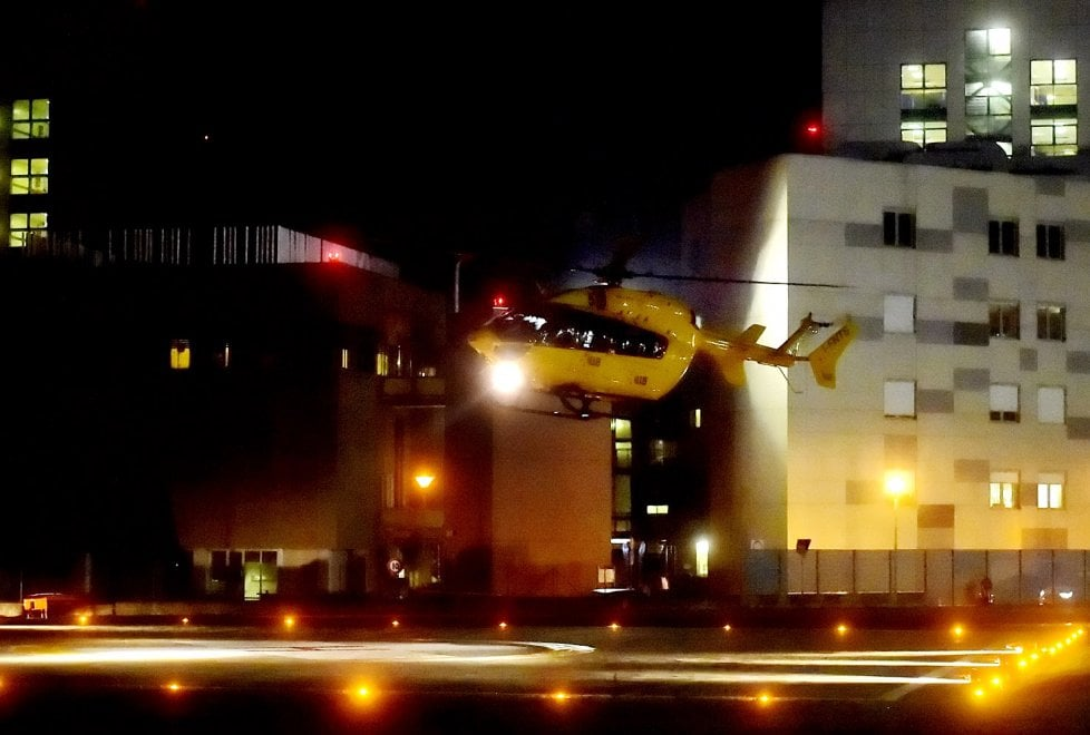 All'ospedale di Parma atterra l'elisoccorso notturno