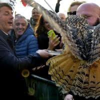 Renzi arriva a Parma e trova un gufo in stazione - Foto