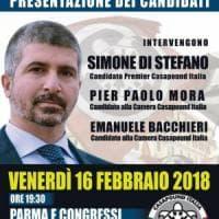 Elezioni, Di Stefano di CasaPound a Parma