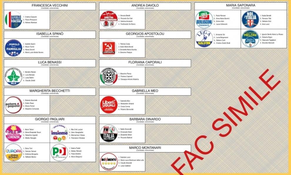 Elezioni, le schede elettorali a Parma