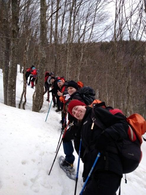 L'ultima neve sull'Appennino parmense accompagna i corsi Gae - Foto