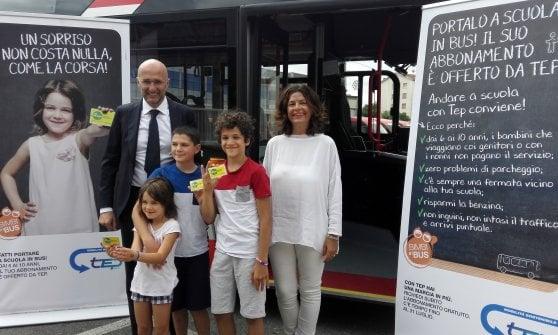 Mobilità, a Parma autobus gratis un anno per i bambini