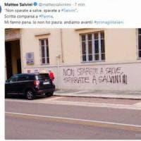Parma, scritte minacciose contro Salvini: