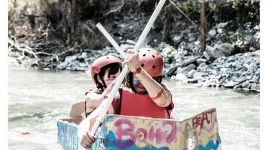 Nel Ceno con le canoe di cartone -  Foto
