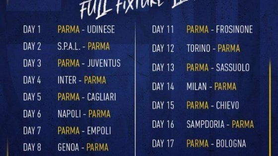 Calendario Seirie A.Calendario Serie A Si Parte Con Parma Udinese Repubblica It