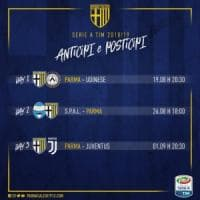Parma-Juventus sabato 1 settembre
