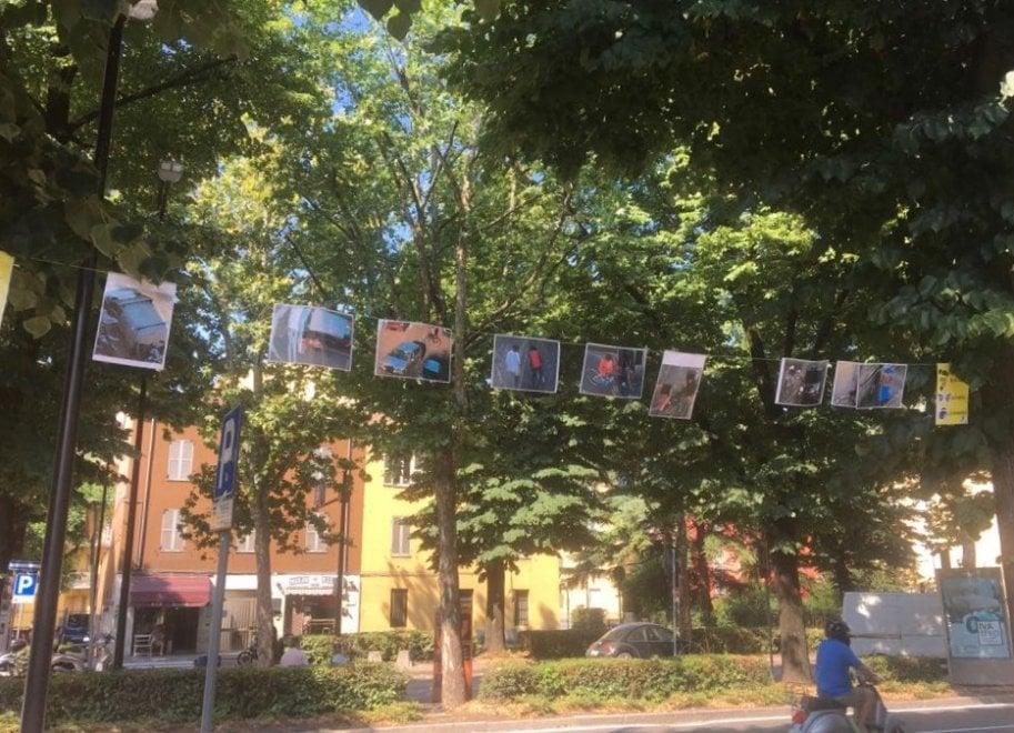 Foto di pusher e clienti appese agli alberi: a Parma residenti contro lo spaccio