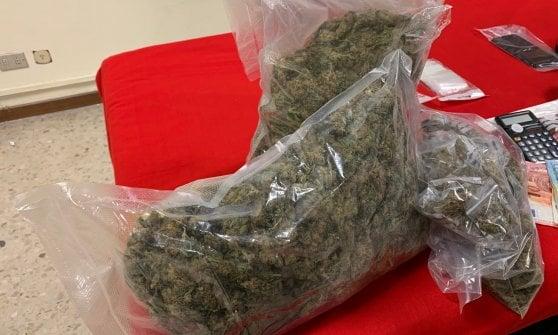 Parma, studente e spacciatore: in valigia quasi due chili di marijuana