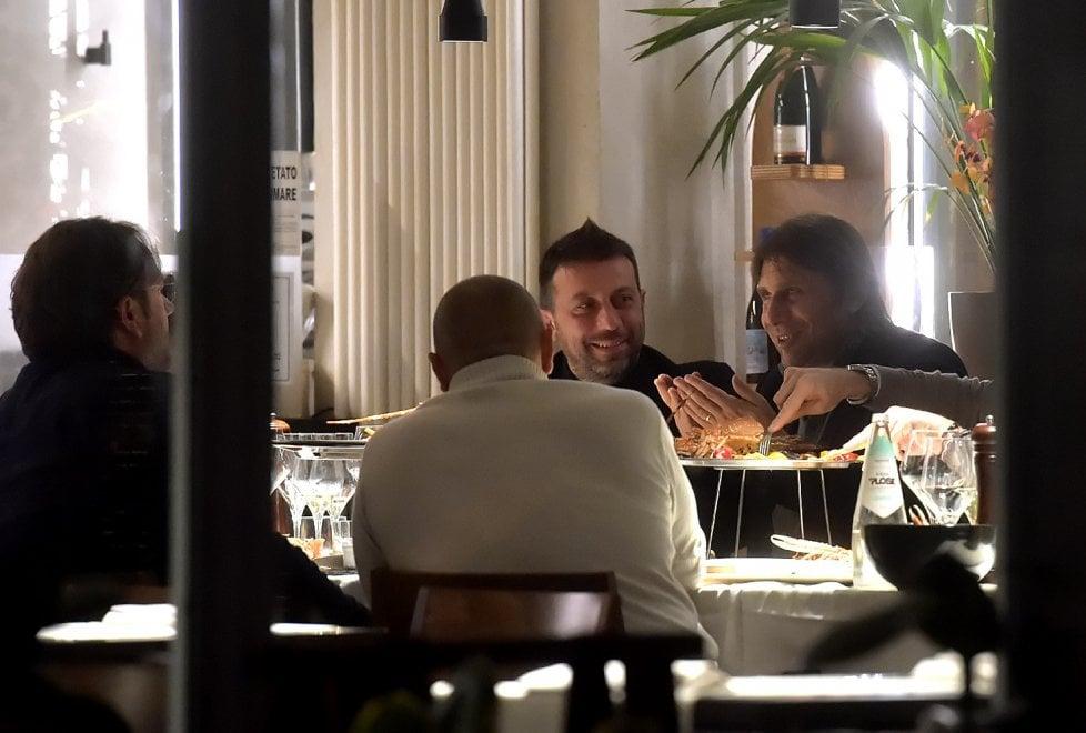 Antonio Conte, Faggiano e D'Aversa: cena parmigiana - Foto