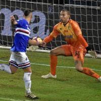 Il Parma tiene un tempo poi c'è solo la Samp: 2-0