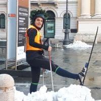 Parma, il laureato sugli sci - Foto