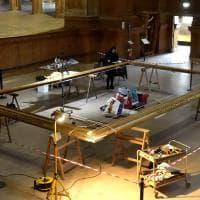 Parma, il restauro della cornice del '700 grande come un salotto - Foto