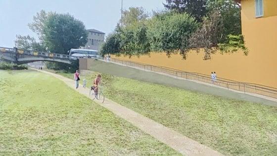 Pista ciclabile nell'alveo della Parma: la sfida è aperta