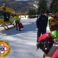 Lago Ballano, scivola per 50 metri: soccorsa e portata in ospedale