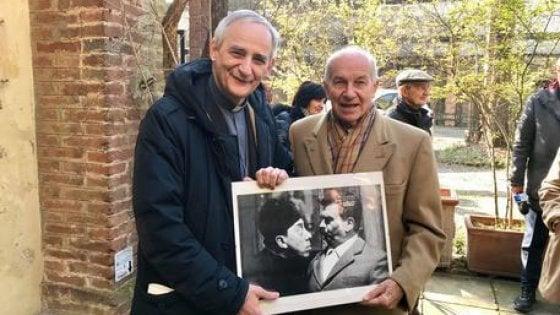 Il vescovo Zuppi e Bertinotti sulle tracce di Guareschi a Busseto