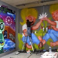 Parma, i graffiti trasformano il garage in opera d'arte - Foto
