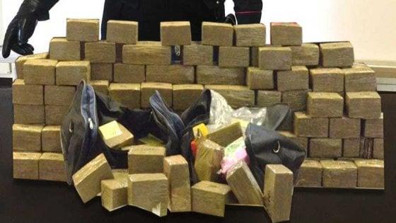 Spaccio, otto arresti dei carabinieri di Parma e 200 kg di hashish sequestrati