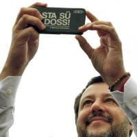 Salvini in piazza a Fidenza - Foto