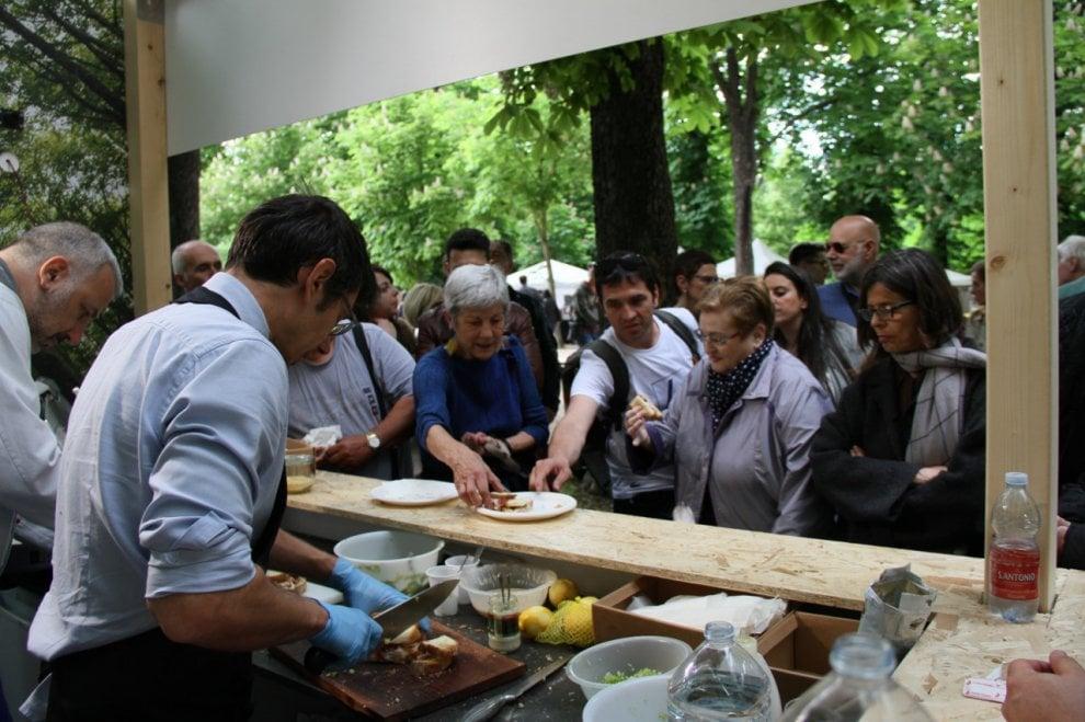 Daniele Reponi, show cooking nello stand di Forma Futuro al Parma Street Food Festival