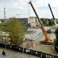Parma, posata la struttura del nuovo ponte della Navetta - Foto