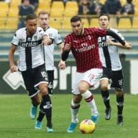 Blitz di Hernandez nel finale: tre punti del Milan a Parma