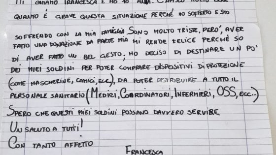 """""""Spero che questi miei soldini possano servire"""": a Parma la donazione della piccola Francesca"""