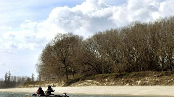 Il fiume Po più trasparente per le scarse piogge e non per il lockdown