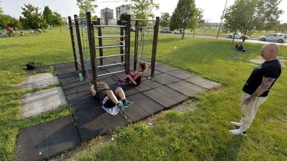 Parma, il parco è una palestra all'aperto con il personal trainer